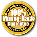 100% money back guarantee image